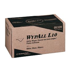 "WYPALL L10 Utility Wipers 9"" x 10.5 POP-UP Box White 125Box Carton of 18 (KIM05320)"