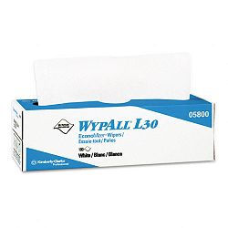 "WYPALL L30 Wipers 9 45"" x 16 25"" Box of 100 Carton of 8 (KIM05800)"