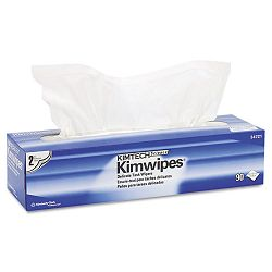 "KIMTECH SCIENCE KIMWIPES Tissue 14 710"" x 16 35"" Box of 90 Carton of 15 (KIM34721)"