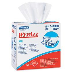 "WYPALL X60 Wipers HYDROKNIT 9 18"" x 16 45"" Box of 126 (KIM34790BX)"