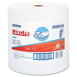 "WYPALL X60 Wipers Jumbo Roll 12 12"" x 13 25"" 1100Roll Carton of 1 (KIM34955)"