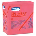 "WYPALL X80 Wipers 14-Fold HYDROKNIT 12 12"" x 13"" Red Box of 50 Carton of 4 (KIM41029)"