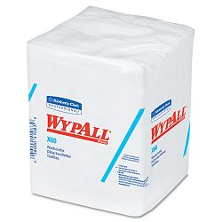 "WYPALL X60 Washcloths 12 12"" x 10"" White 70Pack Carton of 8 (KIM41083)"