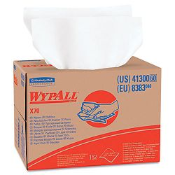 "WYPALL X70 Wipers BRAG Box 12 12"" x 16 45"" White 152Carton (KIM41300)"