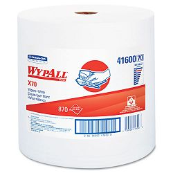 "WYPALL X70 Wipers Jumbo Roll Perf. 12 12"" x 13 25"" White 870Roll Carton of 1 (KIM41600)"