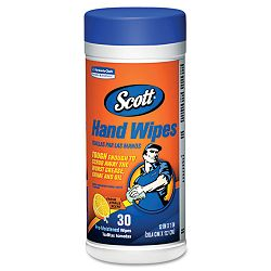 SCOTT Hand Wipes Citrus Scent Green 30Canister Carton of 6 (KIM58028)