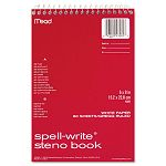 "Spell-Write Steno Book Gregg Rule 6"" x 9"" White 80 SheetsPad (MEA43082)"