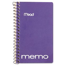 "Memo Book College Ruled 5"" x 3"" Wirebound 60 Sheets Assorted (MEA45534)"
