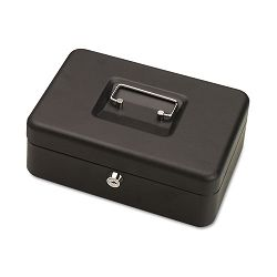 "Steelmaster Personal Security Box 9-34""w x 7""h x 3-12""d 2 Keys Black (MMF221705004)"