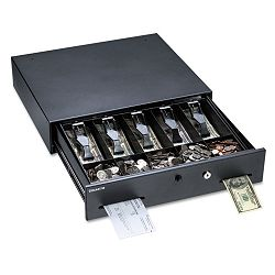 Alarm Alert Steel Cash Drawer with DeadboltPush-Button Release Lock Black (MMF225106001)