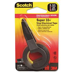 "Super 33+ Electrical Tape with Dispenser 12"" x 200"" Roll Black (MMM194NA)"
