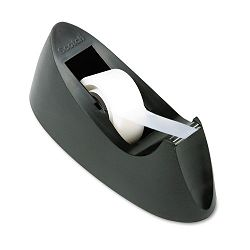 "C15 Desktop Tape Dispenser Attached 1"" core Black (MMMC15BK)"