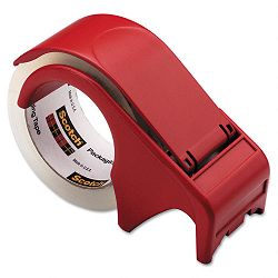 "Compact and Quick Loading Dispenser for Box Sealing Tape 3"" Core Plastic Red (MMMDP300RD)"