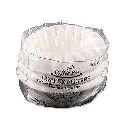 Basket Filters for Drip Coffeemakers 10 to 12 Cups White 200 FiltersPack (OGFCPF200)