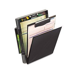 "Recycled Plastic Forms Holder 34"" Capacity Holds 9""w x 12""h Black (OIC83356)"