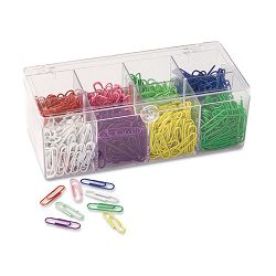 Plastic Coated Paper Clips No. 2 Size Assorted Colors Pack of 800 (OIC97228)