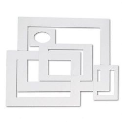 Pre-Cut Mat Frames for PhotoArt 12 Mats 5 Asst Sizes 60Pack White (PAC72500)