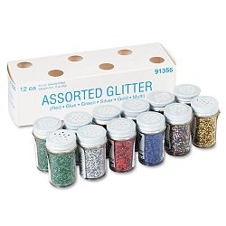 Spectra Glitter .04 Hexagon Crystals Assorted 0.75 oz Shaker-Top Jar Pack of 12 (PAC91356)