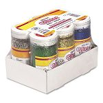 Spectra Glitter .04 Hexagon Crystals Assorted 4 oz Shaker-Top Jar Pack of 6 (PAC91370)