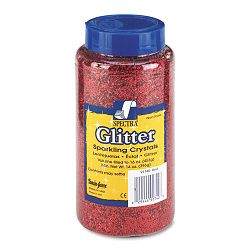 Spectra Glitter .04 Hexagon Crystals Red 16 oz Shaker-Top Jar (PAC91740)