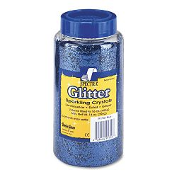 Spectra Glitter .04 Hexagon Crystals Blue 16 oz Shaker-Top Jar (PAC91750)