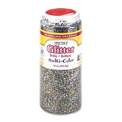 Spectra Glitter .04 Hexagon Crystals Multicolor 16 oz Shaker-Top Jar (PAC91790)