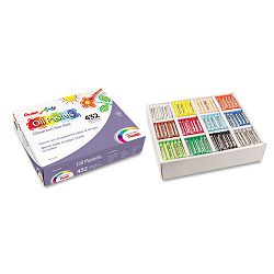 Oil Pastel Set With Carrying Case 12-Color Set Assorted Set of 432 (PENPHN12CP)
