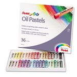 Oil Pastel Set With Carrying Case 36-Color Set Assorted (PENPHN36)