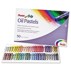 Oil Pastel Set With Carrying Case 45-Color Set Assorted (PENPHN50)