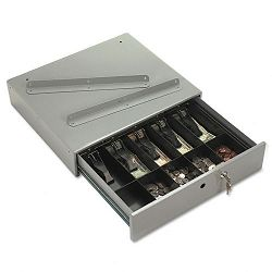 Steel Cash Drawer with Alarm Bell & 10 Compartments Key Lock Stone Gray (PMC04964)