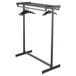 Double-Sided Garment Rack Steel Black Powder Coat (QRT20314)