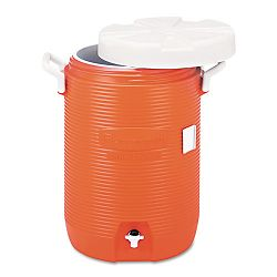 Insulated Beverage ContainerWater Cooler Orange 5 Gallon (RCP168501)