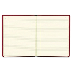 "Red Vinyl Series Journal 300 Pages 7 34"" x 10 Sheets 8 14"" x 10 12 Book Red (RED57231)"