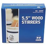 "Wood Coffee Stirrers 5-12"" Long Woodgrain 1000 StirrersBox (RPPR810)"