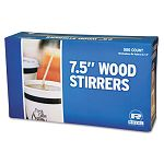 "Wood Coffee Stirrers 7-12"" Long Woodgrain 500 StirrersBox (RPPR825)"