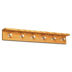 Wood Wall Rack 6 Hook Medium Oak (SAF4222MO)