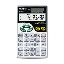 EL344RB Metric Conversion Wallet Calculator 10-Digit LCD (SHREL344RB)