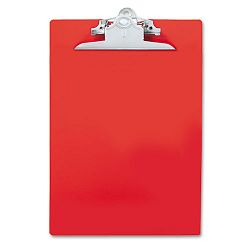 "Plastic Antimicrobial Clipboard 1"" Capacity Holds 8-12""w x 12""h Red (SAU21601)"