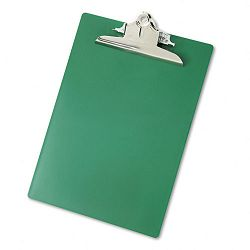 "Plastic Antimicrobial Clipboard 1"" Capacity Holds 8-12""w x 12""h Green (SAU21604)"