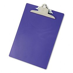 "Plastic Antimicrobial Clipboard 1"" Capacity Holds 8-12""w x 12""h Purple (SAU21606)"