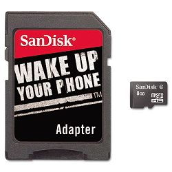 microSD Memory Card with Adapter 8GB (SDISDQ8192A11M)