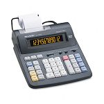 EL1192BL Two-Color Printing Calculator 12-Digit LCD BlackRed (SHREL1192BL)