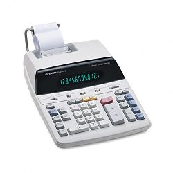 EL2192RII Two-Color Roller Printing Calculator 12-Digit Fluorescent BlackRed (SHREL2192RII)