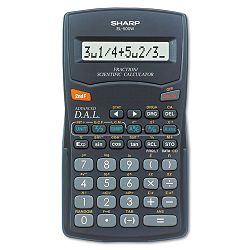 EL-500WBBK FractionScientific Calculator 10-Digit LCD (SHREL500WBBK)