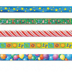 "Border Trim Variety Pack 3"" x 35"" Panels Assorted Designs 60Set (TCR9876)"