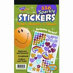 Sticker Assortment Pack Sparkly StarsHearts & Smiles Pack of 336 (TEPT5005)