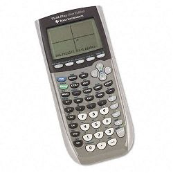 TI-84Plus Silver Programmable Graphing Calculator 10- Digit LCD (TEXTI84PLUSSE)