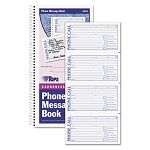 "Spiralbound Message Book 2-34"" x 5"" Two-Part Carbonless 200Book (TOP4002)"
