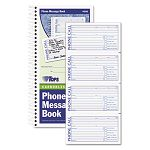 "Spiralbound Message Book 2-34"" x 5"" Carbonless Duplicate 600-Set Book (TOP4008)"