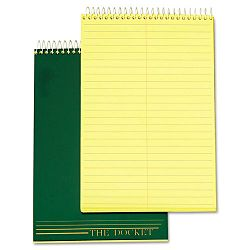 "Docket Steno Pad Gregg Rule 6"" x 9"" Canary 100 SheetsPad (TOP63851)"